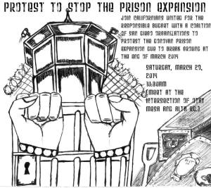 Prison Expansion Protest Flyer