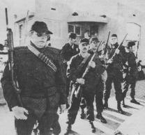 Police Swat Team on Abbott Street, 1974.