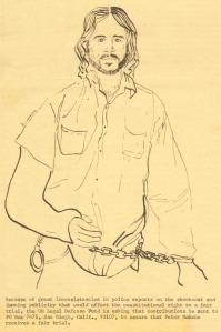 Drawing of Peter Mahone by Diana Tuminia, Ocean Beach 1974.