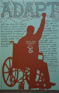 ADAPT Celebrate People's History Poster
